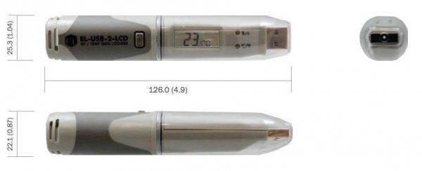Corintech USB-TH+ LCD rejestrator temperatury i wilgotności data logger termohigrometr USB