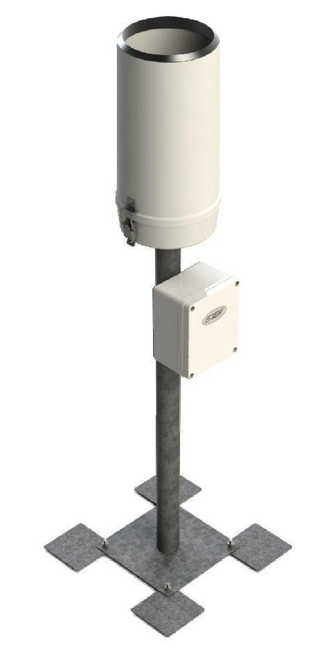 Deszczomierz korytkowy ogrzewany A-Ster TPG-124-H standardowy nizinny 200 cm2 pluwiometr IMGW
