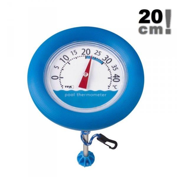 TFA 40.2007 POOLWATCH termometr basenowy tradycyjny mechaniczny do wody duży 200 mm