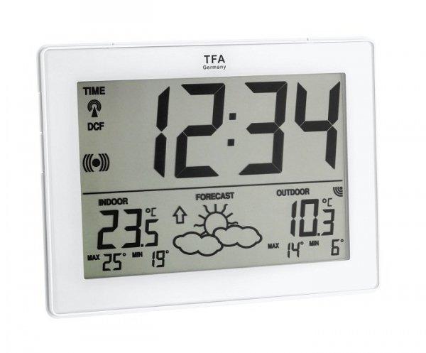 Stacja pogody bezprzewodowa TFA 35.1125 METRO z czujnikiem zewnętrznym błyskawiczna transmisja