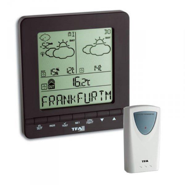 TFA 35.1103 METEOTIME EASY stacja pogody bezprzewodowa z czujnikiem zewnętrznym z prognozą pogody radiową