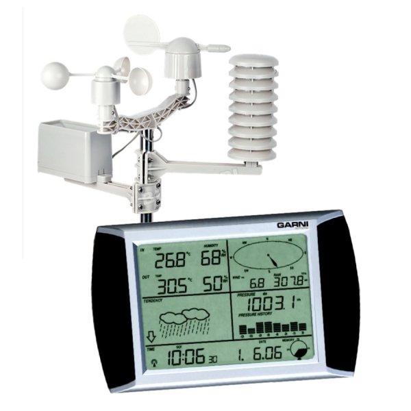 Stacja pogody bezprzewodowa Garni 1080 (Viking 02041) zewnętrzna wiatr, opady, ekran dotykowy