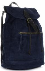 Plecak Skórzany VITTORIA GOTTI Made in Italy 80022 Granatowy