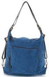 Torebka Skórzana VITTORIA GOTTI Made in Italy V1670C Niebieska Jeans