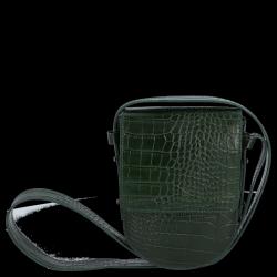 Listonoszka Skórzana VITTORIA GOTTI Made in Italy V6336 Butelkowa Zieleń