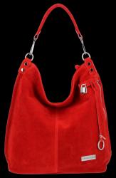 Torebka Skórzana VITTORIA GOTTI Made in Italy VG42 Czerwona
