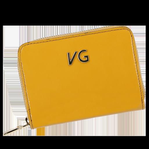 Skórzany Portfel Damski VITTORIA GOTTI Made in Italy VG004MG  Musztarda