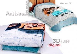 Koc 3D 155x220 cm Selfie blue 71