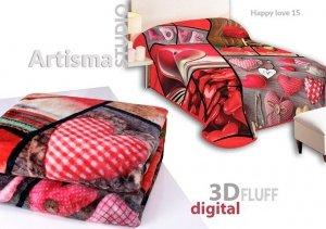 Koc 3D 155x220 cm Happy love 15