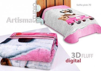 Koc 3D 155x220 cm Selfie pink 70