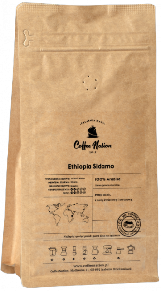 ETHIOPIA SIDAMO 1000g - 100% Arabika