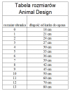 ANIMAL DESIGN Derka DP czarno-czerwona rozmiar 0 18cm