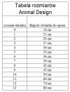 ANIMAL DESIGN Derka DP czarno-czerwona rozmiar 09 45cm