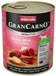 Animonda Gran Carno Sensitiv Wołowina + ziemniaki 800g