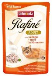 Animonda Rafiné Soupé Adult Drób + wołowina w sosie serowym saszetka 100g