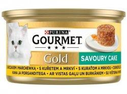 Gourmet Gold Savoury Cake z Kurczakiem i marchewką 85g