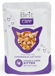 Brit Care Cat Pouch Chicken & Cheese Kitten - Kurczak i Ser saszetka 80g