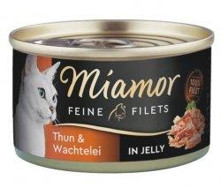 Miamor Feine Filets Dose Thunfisch & Wachtelei - tuńczyk i przepiórka 100g