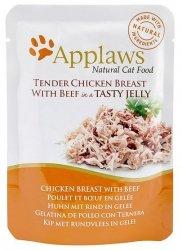 Applaws saszetka dla kota kurczak z wołowiną w galaretce 70g