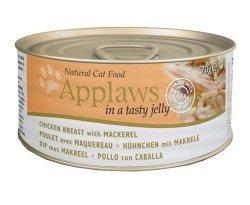 Applaws puszka dla kota Jelly - Kurczak i Makrela 156g