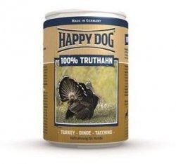 6x Happy Dog Truthahn Puszka 100% Indyk 400g