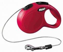 Flexi New Classic Smycz linkowa XS 3m czerwona