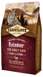 Carnilove Adult Cat Reindeer Energy & Outdoor 6kg