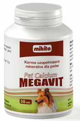 Mikita Pet Calcium megavit 50 tabl.
