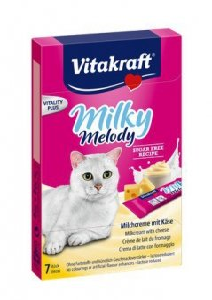 Vitakraft Cat Milky Melody krem z mleka i sera 70g [28819]
