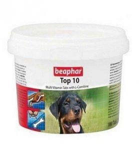 Beaphar TOP 10 Dog - preparat witaminowy z L-karnityną dla psa 750 tabletek