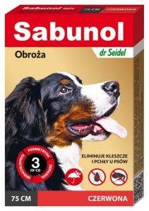 DermaPharm Sabunol GPI Obroża przeciw pchłom dla psa czerwona 75cm