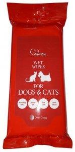 Over Zoo Wet Wipes - chusteczki pielęgnacyjne dla psa i kota 30 sztuk