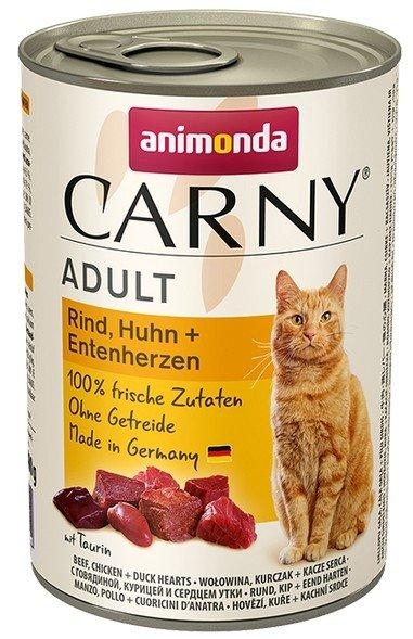 Animonda Carny Adult Kurczak + Kaczka puszka 400g