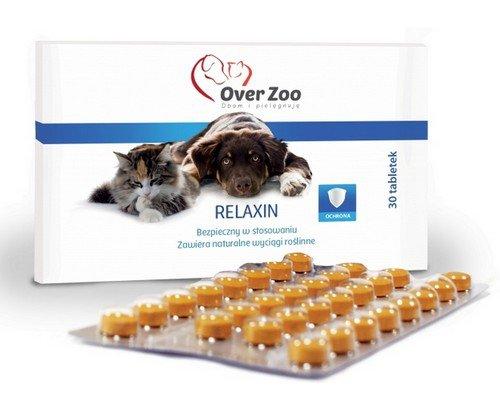 Over Zoo Relaxin preparat uspokajający dla psów i kotów 30 tabletek
