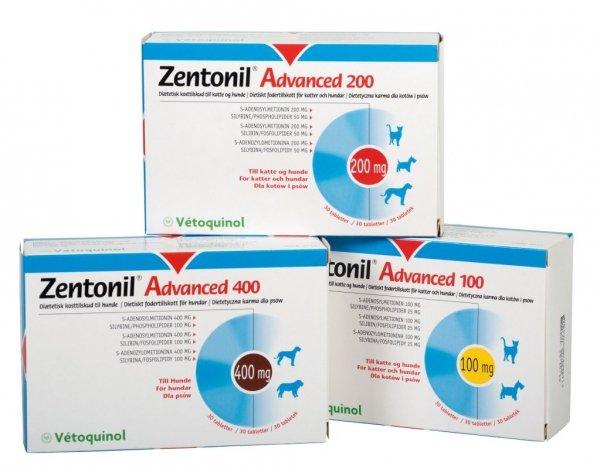 Vetoquinol Zentonil Advanced 100mg 30 kaps.
