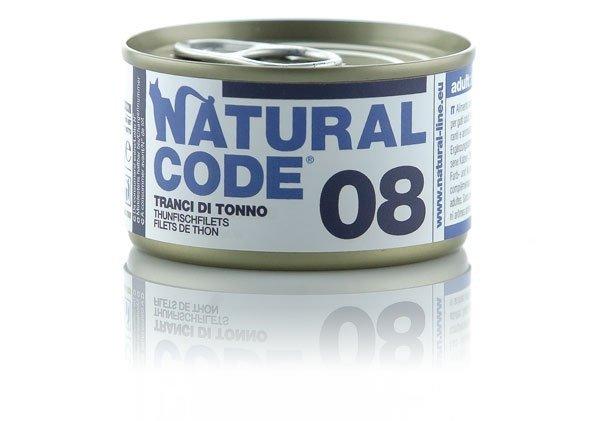 Natural Code Cat 08 Tuńczyk kawałki 85g