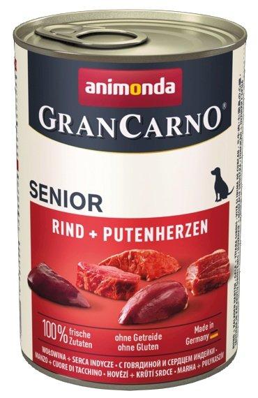 Animonda GranCarno Senior Rind Putenherzen Wołowina + Serca Indyka 400g