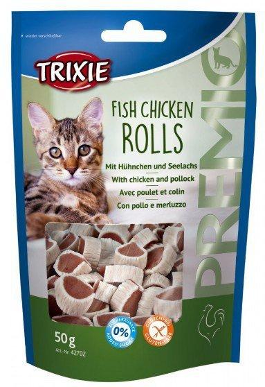 Trixie Premio Fish Chicken Rolls - krążki z kurczakiem i łososiem 50g