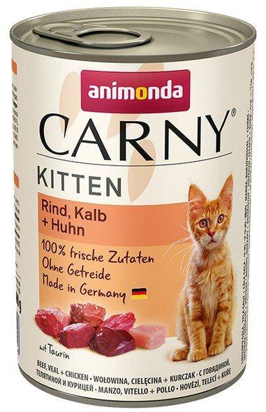 Animonda Carny Kitten Wołowina + Cielęcina + Kurczak puszka 400g