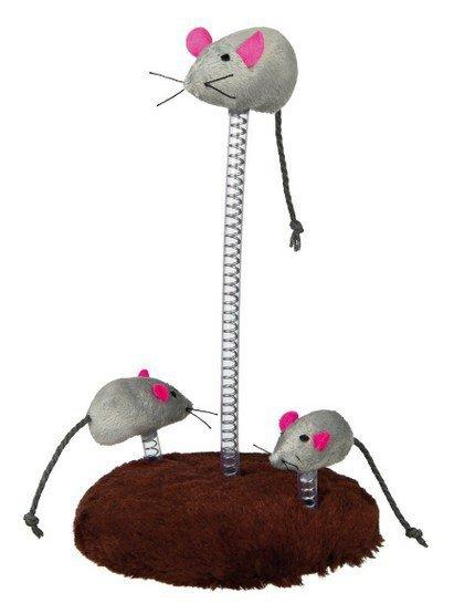 Trixie Myszy na sprężynie 3szt. 30cm [TX-4070]