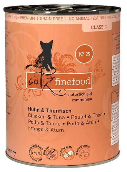 Catz Finefood N.25 Kurczak i Tuńczyk puszka 400g
