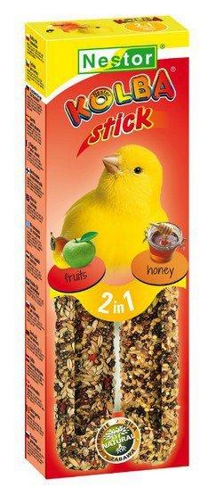 Nestor Kolba 2w1 Kanarek miód i owoc 2szt