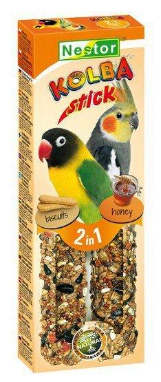 Nestor Kolba 2w1 Papuga średnia biszkopt i miód 2szt