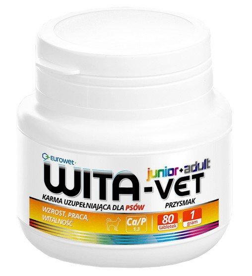 Eurowet Wita-Vet Junior+Adult dla psów do 25kg 1g 80 tabletek