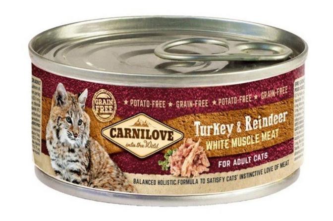 Carnilove Adult Cat Turkey & Reindeer puszka 100g