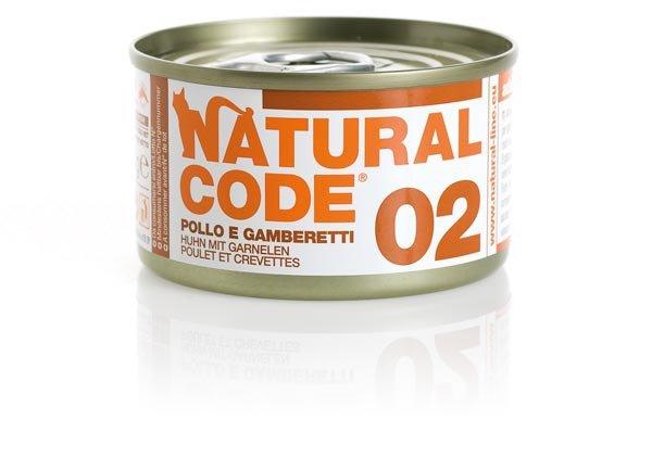 Natural Code Cat 02 Kurczak i krewetki 85g