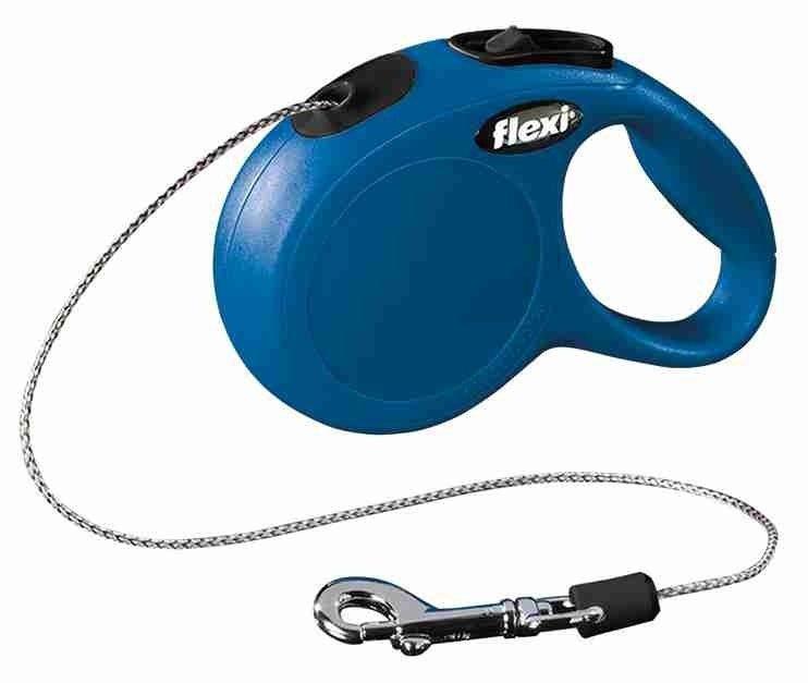 Flexi New Classic Smycz linka XS 3m niebieska