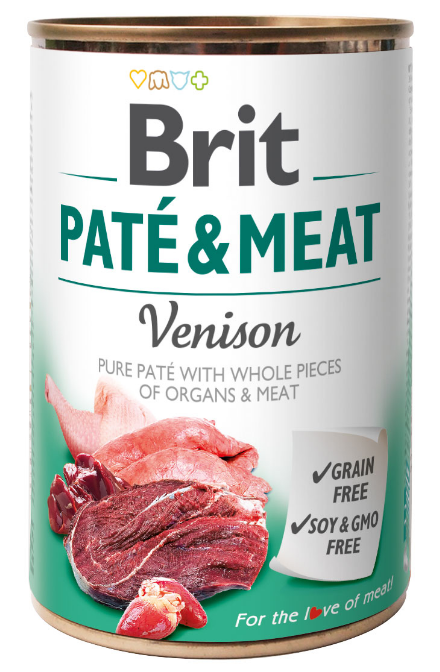 Brit Pate & Meat Venison 800g - Dziczyzna