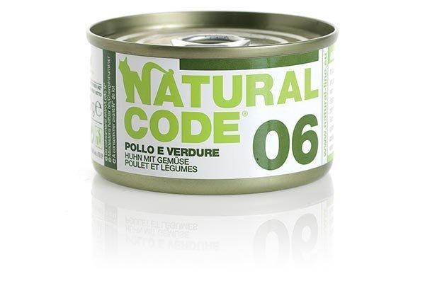 Natural Code Cat 06 Kurczak i warzywa 85g