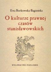 O kulturze prawnej czasów stanisławowskich